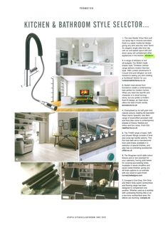 Featured here in Utopia magazine is the Abode Virtue Nero pull out spray tap in a chrome and black finish. Grey Flooring, Chrome, Magazine, Cool Stuff, Black, Design, Gray Floor, Black People, Design Comics