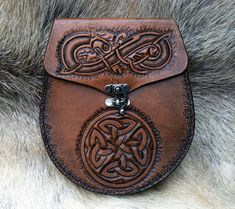 Old World Style Brown Belt Sporran by SonsOfPlunder on Etsy