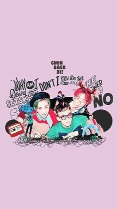 EXO Wallpaper #ChenBaekXi #Chen #Xiumin #Baekhyun #pink Chanyeol Baekhyun, Exo K, Park Chanyeol, Exo News, Exo Lockscreen, Xiuchen, Best Kpop, Kim Min Seok, Exo Members