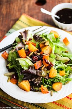 Butternut Squash Salad with Cider Vinaigrette | Recipe | Squash Salad ...