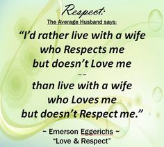 husband doesn t respect wife