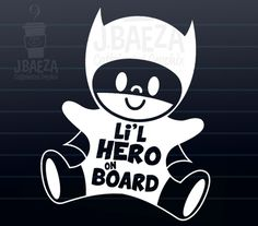 Baby on board car decals for the Little Superheroes in your life.