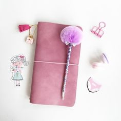 New arrivals!! Lady Pink Jeans colour^^ Handcrafted refillable Pelledori Leather Journal FEATURES:  • Pastel Pink Jeans Pelle Leather Journal , Made