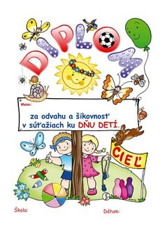 vysvedcenia pre skolkarov - Hľadať Googlom Diy And Crafts, Crafts For Kids, Preschool Education, Drawing For Kids, Learning, Children, Sport, Day Planners, Crafts For Toddlers