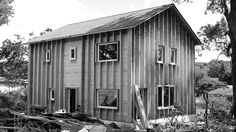 Scranton Passive House - construction exterior view - RPA (Richard Pedranti Architect)
