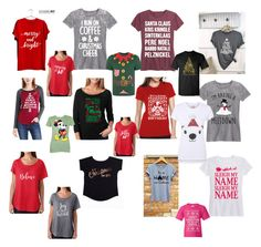 """""""Christmas Tees Tshirts"""" by saffron-rose on Polyvore featuring Festuvius, Acting Pro, SignatureTshirts, George and Disney"""