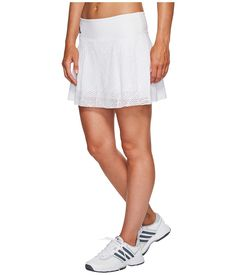 1c9a99fdc Bolle Womens Club Whites Athletic Skirt with Attached Shorts Active Skorts  Asymmetrical Ruffles-Ideal