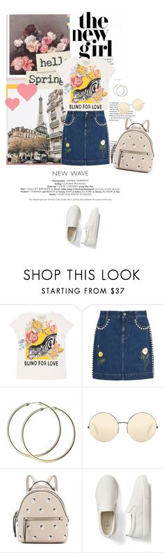 """""""Untitled #356"""" by fe-y ❤ liked on Polyvore featuring Gucci, STELLA McCARTNEY, Victoria Beckham, Fendi and Gap"""