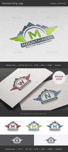 Mountain Wing Logo Template #design #logotype Download: http://graphicriver.net/item/mountain-wing-logo/11985775?ref=ksioks