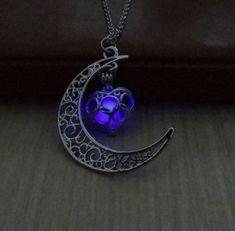 Moon Necklace, Silver Pendant Necklace, Silver Necklaces, Heart Necklaces, Silver Earrings, Cross Necklaces, Earrings Uk, Purple Necklace, Necklace Charm