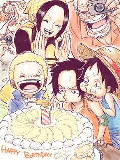 Sabo, Ace, Luffy, Makino, Garp, Dadan, One Piece
