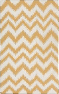 yellow chevron ikat wool rug