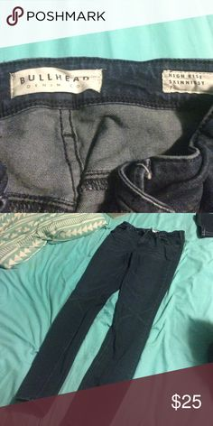 Dark Wash Bullhead/Pacsun Highrise Skinny Jeans Size 7. Bought earlier this summer and only wore them once. Perfect condition, I just wear light wash and destroyed jeans more. Make me an offer! PacSun Jeans Skinny
