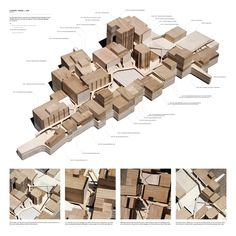 scheme overview model | Extended School - Bourj el-Barajneh Refugee Camp, Beirut | George Woodrow | Diploma 7 - Architectural Association 2010