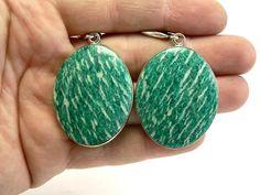 Amazonite Earrings Mint Earrings Green Earrings Amazonite