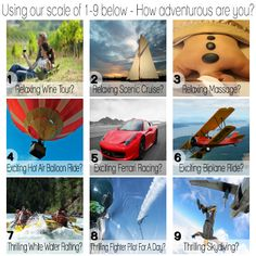 Enter to win a $400 gift card for an adventure/experience from Cloud 9 Living! There are SO many options and an experience/adventure for everyone! Relaxing - Have a spa day! Go to a wine  cheese tasting! Exciting - Ride a bull! Race a Ferrari! Romantic - Go on a private cruise! Sail at sunset! Knowledge - Learn glassblowing! Take trapeze lessons! Cloud 9 Living is in 46 states nationwide! CREATE A MEMORY, GIVE AN EXPERIENCE Enter at - http://spocca.com/summer-adventure-sweepstakes/