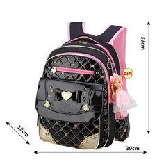1b69ed1c08 Waterproof School Bags For Girls Children Backpack Girl School Backpack  With Doll Gift Kids Schoolbags Quality Mochila Escolar