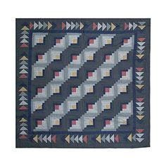 Patch Magic Sail Log Cabin Shower Curtain, 72-Inch by 72-Inch by Patch Magic