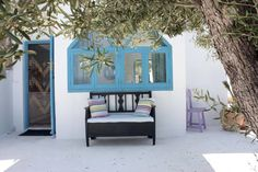 The guest casita at our beautiful Boutique home, Casa Miranda. Turquoise dream.