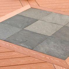 deckorail smoke slate deck tiles installed