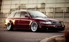 *A work of art. Hella slammed Audi RS4. Those rims just kill me!