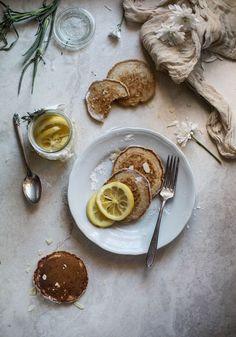 ... vegan sourdough cinnamon lemon pancakes ...