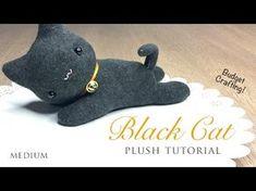 DIY Black Cat Plush and Halloween Hairband Tutorial - YouTube