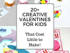 20+ CREATIVE VALENTINES FOR KIDS Remember how fun it was to make your own Valentines for your classmates? Now you can make them again with your own kids! I've gathered up over 20 of the cutest, most creative Valentine ideas! Kids can easily make these fun Valentine crafts for their friends at school, which will be happily received! -Mamma Mode, A Life + Style blog that serves as a resource for the modern Mamma!
