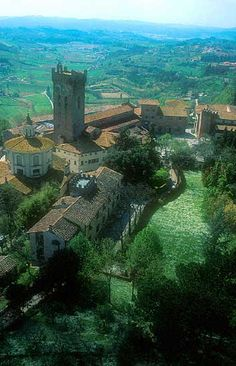 San Miniato Alto, Italy. I remember visiting castles like this and loving every minute of it.