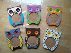 Hand Painted Owl Coasters by Me New Hobbies, Coasters, Owl, Hand Painted, Painting, Drink Coasters, Owls, Painting Art, Paintings