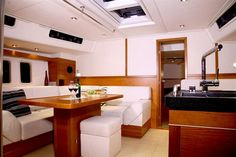 Spencer Yacht by Lake Norman's interior decorating and redesign company, J. Hanse Yachts, Boat Interior, Building Companies, Interior Decorating, Interior Design, Beautiful Interiors, Houseboats, Modern, Norman