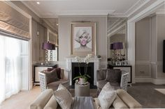 Cliveden Place - transitional - Living Room - London - Duck and Shed