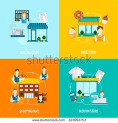 Стоковые вектора и векторный клип-арт Shop Outdoor | Shutterstock