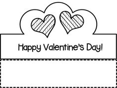 ❤ Valentinstagkronen ❤ - Pre-K Groundhog/Valentines Day Crafts & Worksheets Valentine Hats, Kinder Valentines, Valentine Day Crafts, Happy Valentines Day, Valentine Ideas, Crown Printable, Free Printable, Crown Crafts, Valentines Day Coloring Page
