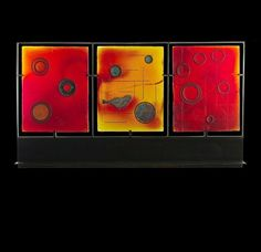 Merlot Map Triptych by Marlene Rose (Art Glass Sculpture) Glass Wall Art, Fused Glass Art, Stained Glass, Triptych Art, Buy Art Online, Rose Art, Red Glass, Art Auction, Paintings For Sale