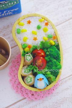 mini boiled egg penguin bento