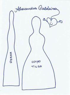 Tutorial boneca Tilda feita pela incrível Alesandra Caldeira
