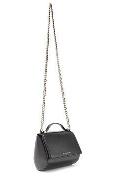 Givenchy - Pandora Box Mini Textured-leather Shoulder Bag - Black - one size