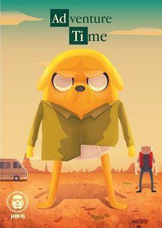 Adventure Time Meets Breaking Bad Dc Comics Adventure Time Art Adventure Time Crossover