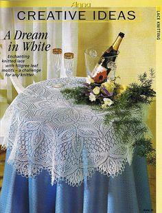 Kira knitting: Scheme knitted tablecloths 22