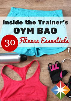 Admit it: You've always wondered what is inside a trainer's gym bag. What are their must-haves for their morning workout? What exercise essentials get them through their next yoga sweat session? Click here to find out!
