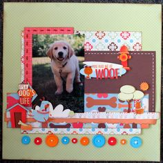Scrapbook Layout Ideas Dogs - We R Memory Keepers Sew Easy Stitch Piercer Tool. Dog Scrapbook Layouts, Paper Bag Scrapbook, Album Scrapbook, Scrapbook Sketches, Scrapbook Supplies, Wedding Scrapbook Pages, Online Scrapbook, Scrapbook Designs, Scrapbook Stickers