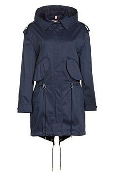884d910282c4 CHILTONDALE Lightweight Utilitarian Chic Hooded Parka In Navy. queenar · Women s  Coat Plus Size