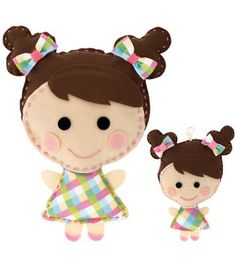 I'm making something similar to this for my class. Sew Cute Craft Box Kit - Makes 2-Doll #1-Brown Hair & Sewing & Yarn Kits at Joann.com
