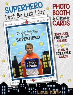end of year activities: beginning of the year: first day of school: superhero: superhero theme: bulletin boards: photo booth: student parent giftsCapture the first day of school or end of… Superhero Bulletin Boards, Superhero Classroom Decorations, Classroom Themes, Superhero Photo Booth, Superhero Superhero, Last Day Of School, Beginning Of School, Preschool Orientation, Back To School Activities