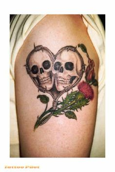 pretty skull tattoos for women | Skulls Tattoos – Tattoopictures, Tattoophotos