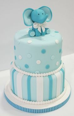 Tarta Bautizo o baby shower Several Easy Babyshower Game Ideas Babyshower games thoughts are very ea Torta Baby Shower, Elephant Baby Shower Cake, Elephant Cakes, Baby Shower Cakes For Boys, Baby Boy Cakes, Baby Shower Decorations For Boys, Baby Elephant, Baby Shower Parties, Baby Boy Shower