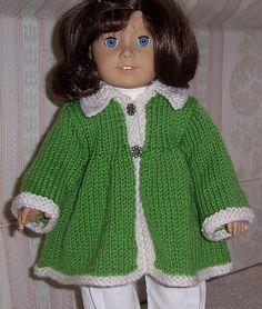"""Ravelry: GrandmaKnits' Flared Jacket for 18"""" dolls"""
