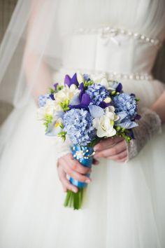 Bruidsboeket blauw : foto's en voorbeelden