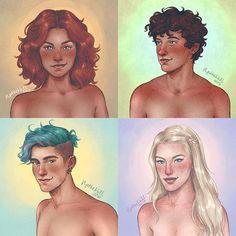 Rose, Hugo, Teddy, Victoire